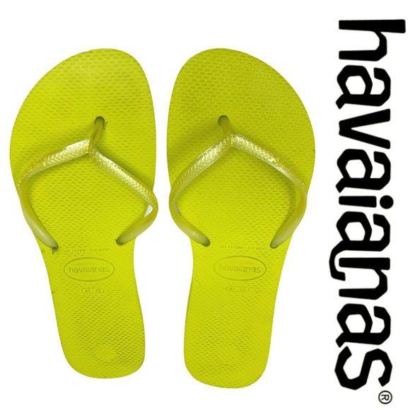havaianas slim yellow